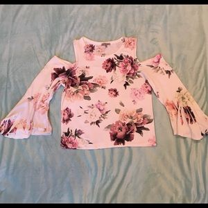 Charlotte Russe cold shoulder floral top